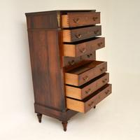 Antique Rosewood Biedermeier Secretaire Chest of Drawers (9 of 13)