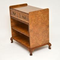 Antique Burr Walnut 3 Tier Buffet Server Table (3 of 12)