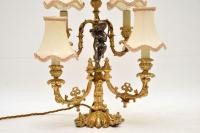 French Gilt Metal Candelabra Table Lamp (5 of 9)