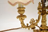 French Gilt Metal Candelabra Table Lamp (8 of 9)