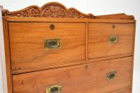 Antique Camphor Wood Campaign Chest of Drawers (6 of 12)