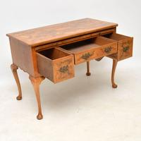 Antique Burr Walnut Desk / Writing Table / Dressing Table (11 of 11)