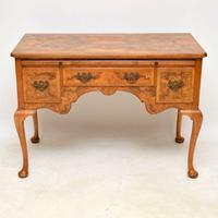 Antique Burr Walnut Desk / Writing Table / Dressing Table (2 of 11)