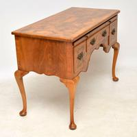 Antique Burr Walnut Desk / Writing Table / Dressing Table (7 of 11)