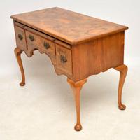 Antique Burr Walnut Desk / Writing Table / Dressing Table (8 of 11)