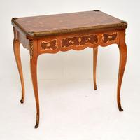 French Inlaid Marquetry Card Table (12 of 12)