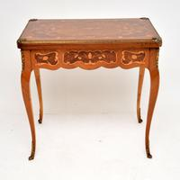 French Inlaid Marquetry Card Table (3 of 12)