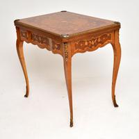 French Inlaid Marquetry Card Table (4 of 12)