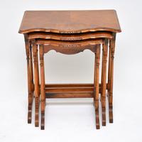 Antique Burr Walnut Nest of Tables (2 of 9)