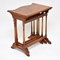 Antique Burr Walnut Nest of Tables (8 of 9)