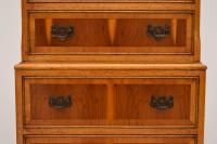 Georgian Style Yew Wood Chest on Chest c.1930 (6 of 13)