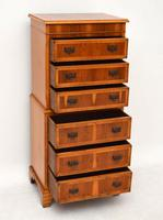 Georgian Style Yew Wood Chest on Chest c.1930 (10 of 13)
