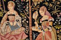 Antique Hand Stitched Tapestry c.1890 (7 of 12)