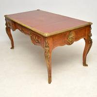 Large Antique French Gilt Bronze Mounted Kingwood Desk (8 of 15)