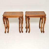 Pair of Antique Burr Walnut Nesting Side Tables (2 of 9)