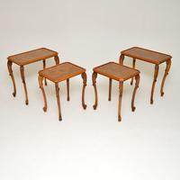 Pair of Antique Burr Walnut Nesting Side Tables (4 of 9)