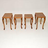 Pair of Antique Burr Walnut Nesting Side Tables (5 of 9)
