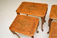 Pair of Antique Burr Walnut Nesting Side Tables (6 of 9)