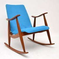 1960s Pair of Vintage Rocking Armchairs by Louis Van Teeffelen (9 of 11)
