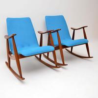 1960s Pair of Vintage Rocking Armchairs by Louis Van Teeffelen (2 of 11)