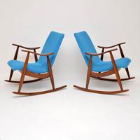1960s Pair of Vintage Rocking Armchairs by Louis Van Teeffelen (3 of 11)