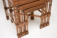 Chippendale Style Burr Walnut Nest of Tables (9 of 10)