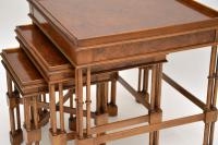 Chippendale Style Burr Walnut Nest of Tables (10 of 10)