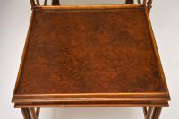 Chippendale Style Burr Walnut Nest of Tables (6 of 10)