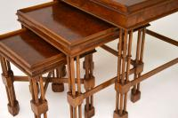 Chippendale Style Burr Walnut Nest of Tables (8 of 10)