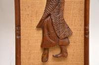 1960s Pair of Carved Walnut Decorative Reliefs Wall Art (11 of 11)