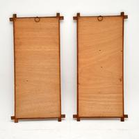 1960s Pair of Carved Walnut Decorative Reliefs Wall Art (10 of 11)