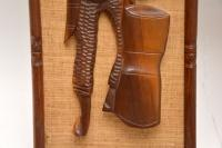 1960s Pair of Carved Walnut Decorative Reliefs Wall Art (9 of 11)