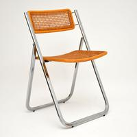 1970s Italian Chrome & Cane Folding Dining Chairs by Arben (3 of 11)