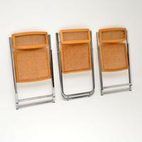 1970s Italian Chrome & Cane Folding Dining Chairs by Arben (4 of 11)