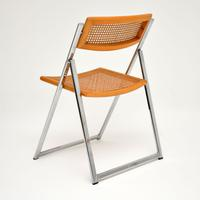 1970s Italian Chrome & Cane Folding Dining Chairs by Arben (5 of 11)