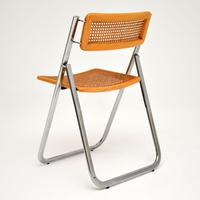 1970s Italian Chrome & Cane Folding Dining Chairs by Arben (6 of 11)