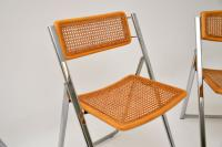 1970s Italian Chrome & Cane Folding Dining Chairs by Arben (8 of 11)
