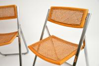 1970s Italian Chrome & Cane Folding Dining Chairs by Arben (9 of 11)