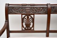 Antique Victorian Carved Mahogany Settee (3 of 11)