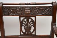 Antique Victorian Carved Mahogany Settee (10 of 11)