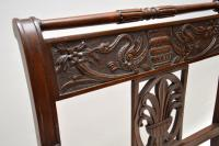 Antique Victorian Carved Mahogany Settee (8 of 11)