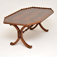 Antique Yew Wood Oyster Veneer Coffee Table (3 of 12)