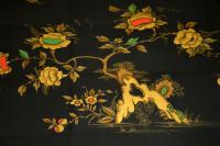 1970s Vintage Decorative Brass & Lacquered Chinoiserie Coffee Table (9 of 11)