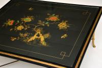 1970s Vintage Decorative Brass & Lacquered Chinoiserie Coffee Table (8 of 11)