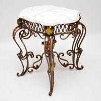Antique Painted Iron Marble Top Table (12 of 12)
