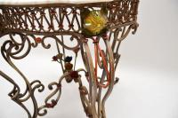 Antique Painted Iron Marble Top Table (7 of 12)