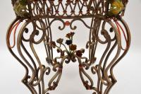 Antique Painted Iron Marble Top Table (4 of 12)