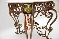 Antique Painted Iron Marble Top Table (6 of 12)