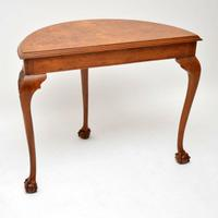 Antique Burr Walnut Console Table (9 of 9)