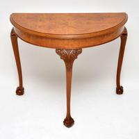 Antique Burr Walnut Console Table (2 of 9)